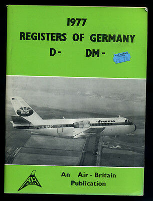 Air-Britain 1977 REGISTERS OF GERMANY - civil aircraft