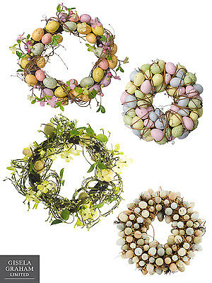 Gisela Graham Wreath Easter Egg Floral Table Decoration Greenery Speckled Eggs