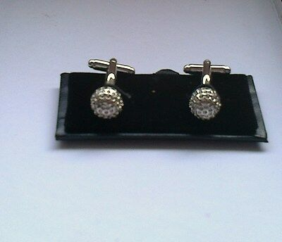Men's Crystal Cuff Links[203] - White - Boxed