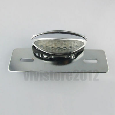 Universal Chrome Atvs Motorcycle 15 Led Rear Tail Brake Stop Number Plate Light