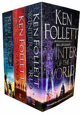 Ken Follett Century Trilogy Collection 3 Books Set Edge of Eternity, Winter- New