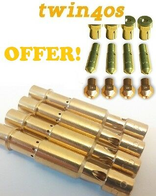 NEW! 4 X EMULSION TUBES, 4x Idle Jet, 4x Air Jets,4x Main Jets DCOE REPLACEMENT