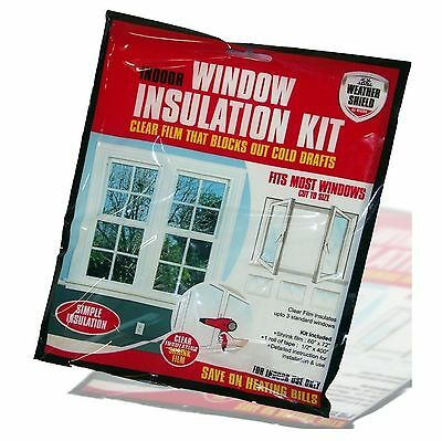 Weather Shield Window Insulation Kit For Indoor Windows Draft Excluder Sealing