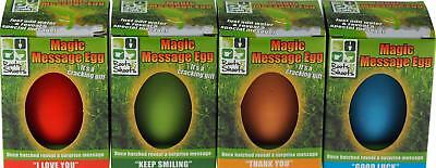 Set Of 4 Magic Message Growing Egg Plant - I Love You, Thank You, Keep Smiling
