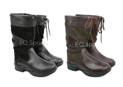 REDUCED MUST GO! P&P Arizona SHORT Leather Country Boots Sizes 3-9 Black&Brown