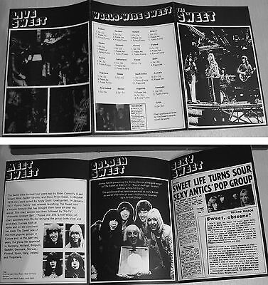 Sweet -  Brian Connolly 1970's Uk Promo Leaflet (Reprint!)