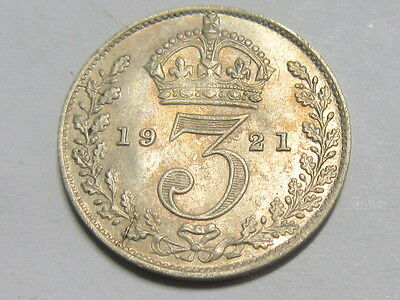 George V Silver Threepence 3D 1921.