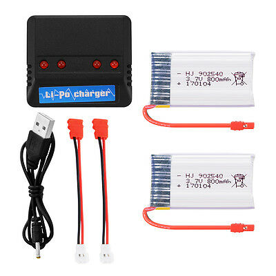 2pcs/4pcs 800mAh/1200mAh 3.7V 25C Battery w/ Charger for Syma X5HC X5HW RC Drone
