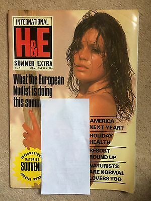 HEALTH & EFFICIENCY H&E MAGAZINE SUMMER EXTRA No.1 VERY GOOD PERFECT CONDITION