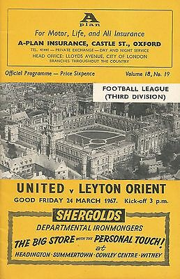 Oxford United v Leyton Orient, 24.3.1967, Division 3 + Football League Review