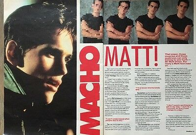 """MATT DILLON 2 PAGES PICTURES ARTICLES 1980s ORIGINAL POSTER 12 X 9"""" APPROX"""