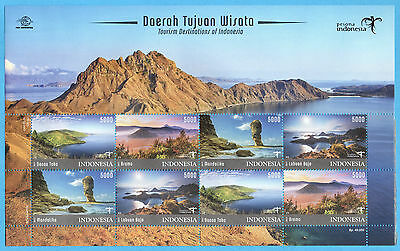 Indonesia 2017-2 Wonderful Indonesia Tourism Mountain '2' Sheetlet Stamps Mnh