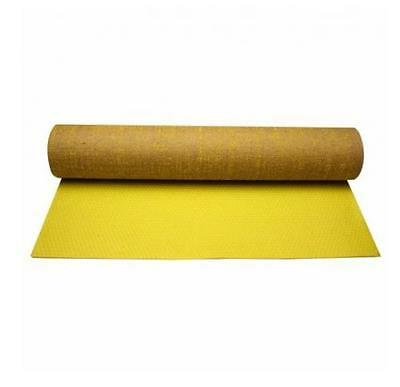 Exercise Yoga Mat Home Fitness Pilates Workout Aerobic Mats 0.6cm Thick Yellow