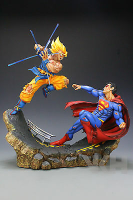 DRAGON BALL Z RESINA GOKU GOKOU vs SUPERMAN RESIN FIGURE FIGURA STATUE NEW