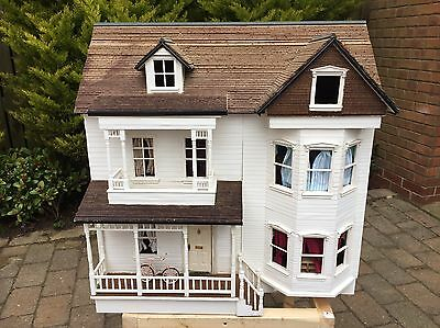 Hand Built (not from kit) Large Dolls House With Furniture