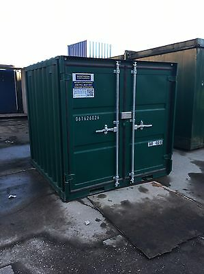 6ft CUBE SHIPPING CONTAINER GREEN NEW
