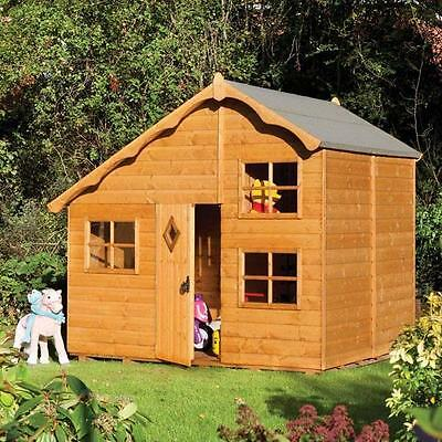 Childrens Outdoor Wooden Playhouse - Playaway Swiss Cottage