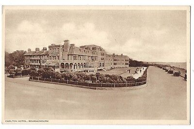 BOURNEMOUTH Carlton Hotel, Old Postcard by SJ Mate, Unused