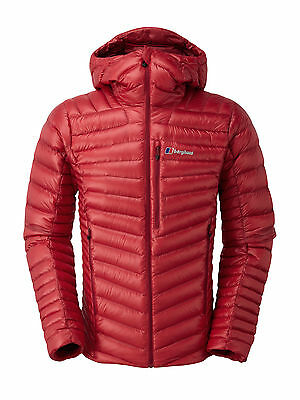 Berghaus Mens Extrem Micro Down Insulated Climbing Witner Hiking Jacket in Red
