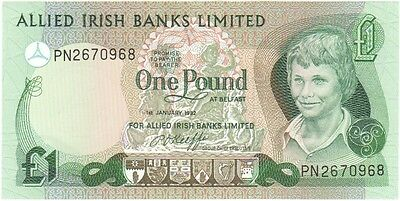 Allied Irish Banks Ltd. £1 Dated 1982, Uncirculated