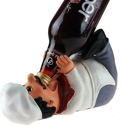 Comic Chef / Cook Guzzlers Wine Bottle Novelty Drinks Holder Ornament
