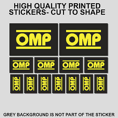13x OMP DECALS STICKERS MOTO MOTORCYCLE SPONSOR STICKER SHEET DECAL