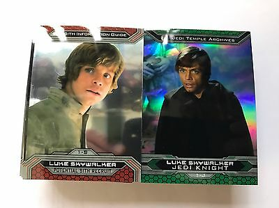 Star Wars Chrome Perspectives Jedi V Sith Complete 100 Card Base Set