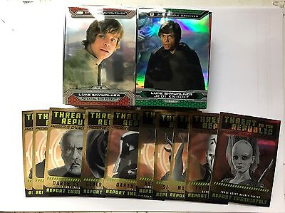 Star Wars Chrome Perspectives Jedi V Sith Base Set + Threat Republic 110 Cards
