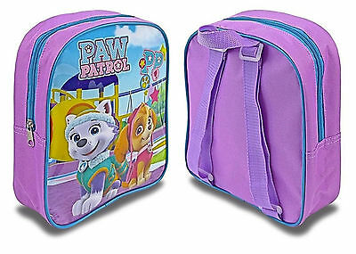 Kids Paw Patrol Girls Skye Everest Purple Junior Back Pack Ruck Sack School Bag