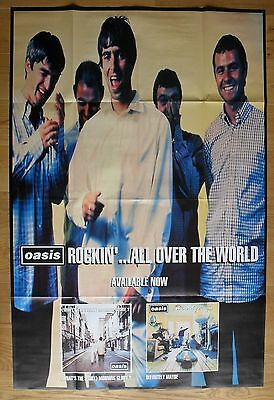 "OASIS rockin' all over the world  poster huge 59""x39"" inch"