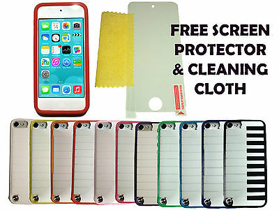 Piano Case Cover + Screen Protector For Apple iPod Touch 5 & 6 Generation