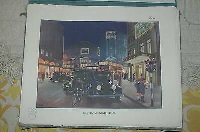 Vintage school poster. Lights at Night-Time. No 80