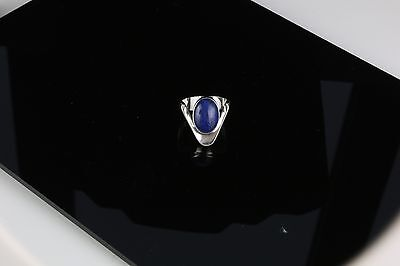 Danish silver ring with  Lapis stone made by N.E.From