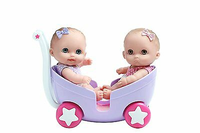 JC Toys Lil' Cutesies Twins in Stroller, 8.5 Inches Ages 2+ New NRFB