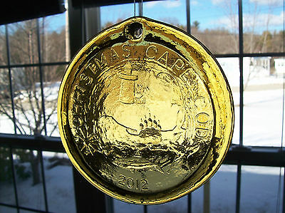 Pairpoint Hand Pressed Glass Crystal Sun Catcher, Christmas Cape Cod , Yellow