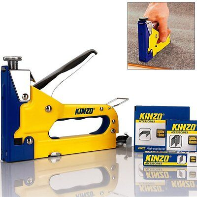 3 in 1 INDUSTRIAL STAPLER STAPLE GUN CARPETS UPHOLSTERY 1501 STAPLES AND NAILS