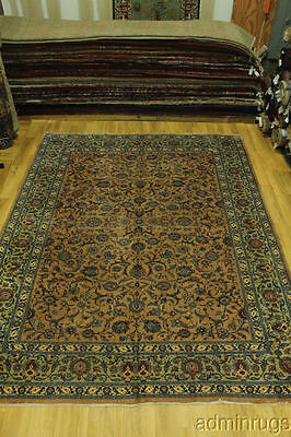 Rare Muted Tan Brown Color Floral Kashmar Persian Oriental Area Rug Carpet 10X13