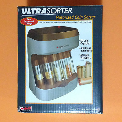 New Magnif Ultrasorter Improved Motorized Coin Sorter Counter & Wrapper 4876