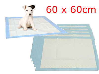 100 PCS LARGE PUPPY TRAINER TRAINING PADS TOILET PEE WEE MATS DOG CAT 60x60CM