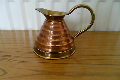 Vintage Brass And Copper Jug Weba Ware Made In England