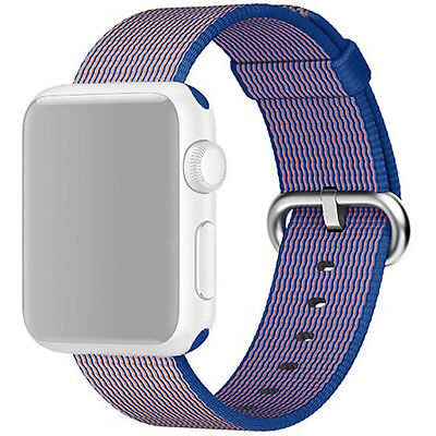 Genuine MNKG2AM/A Woven Nylon Apple Watch 42mm - Light Pink/Midnight Blue