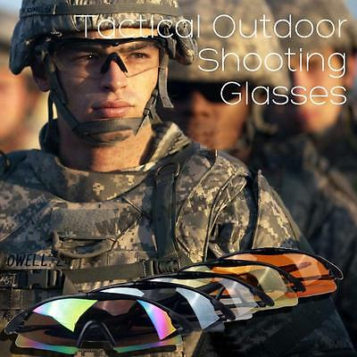 Unique Tactical Outdoor UV400 Protection Police Shooting Glasses Sports Cycling