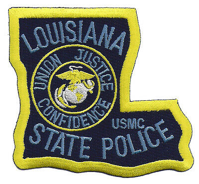 Louisiana State Police USMC Shoulder Patch - United States Marine Corps - New