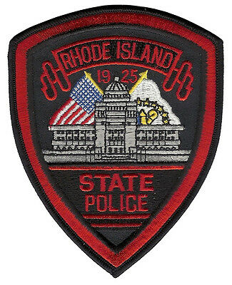 Rhode Island State Police Shoulder Patch - 5 inches tall by 4 inches wide  - NEW