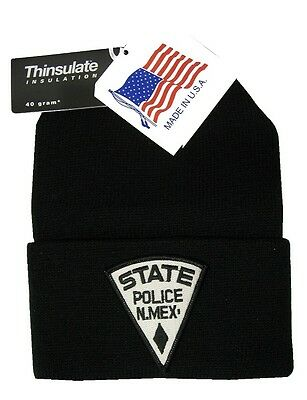 New Mexico State Police Patch Knit Cap - 40g Thinsulate Insulation - Black