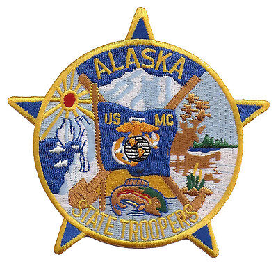Alaska State Troopers USMC Patch - United States Marine Corps - Police - NEW