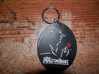 Disney Beauty And The Beast Broadway Musical Vintage Rubber  Key Chain 1994