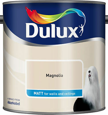 Dulux Smooth Creamy Emulsion Matt Paint - Magnolia - 2.5L -Walls and Ceiling