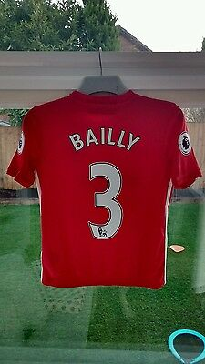 Manchester United Home Shirt 2016/17, age 11-12, Bailly, RRP £51.95