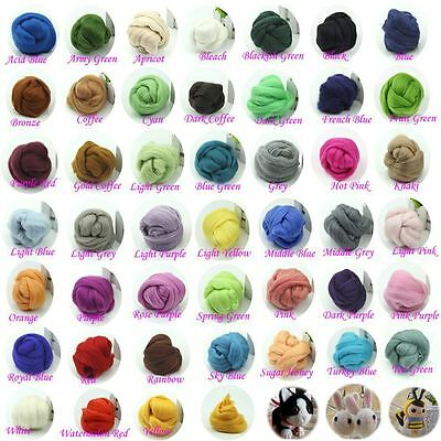 5g-10g Corriedale Wool Fiber Roving For Needle Felting Dyed Spinning Wet Craft